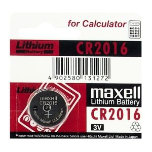 5x CR2016 BATERIA LITOWA MAXELL Japan DL2016 2016